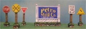 "Petro Village Signs (6) 2.75""t"