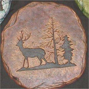 """Deer Plaque/Slab 11x11"""""""