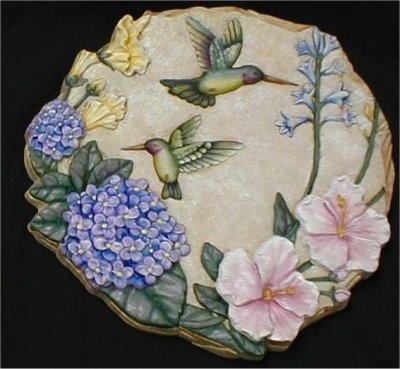Humming Bird Plaque/Slab 11x11""