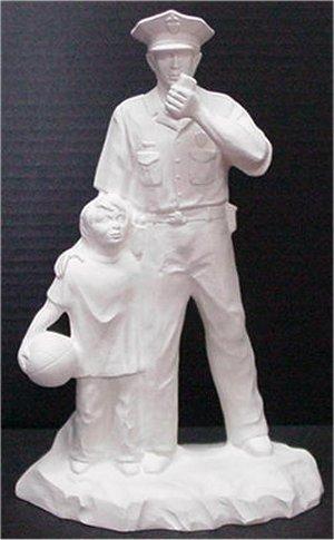 "Policeman w/Child 12""t"