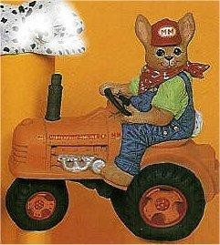 Bunny on Tractor 7 x 6.5""