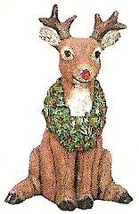 "Wreath Reindeer Jr. 7.5""t"
