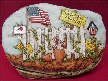 "God Bless America Slab 10x6.5"""