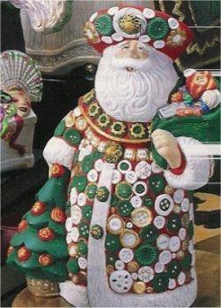 "Button Santa 9""t"