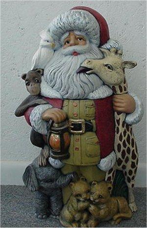 "Santa & Animals 21""T"