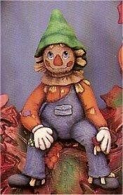 "Sitting Scarecrow 7.5""t"