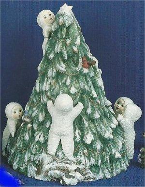"SnowBaby Tree inclds 6 snobabys on tree 9""T"