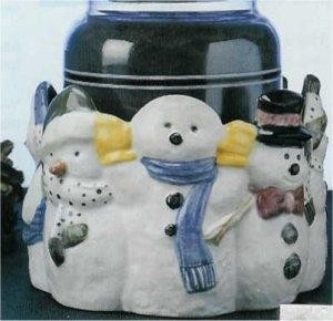 """Snowman Dish or Candle Holder 5""""D"""
