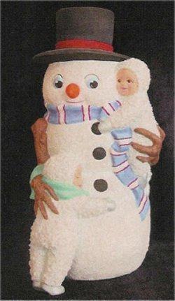 "Snowmanw/Snow Babies 8""T"