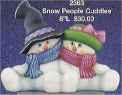 "Snow People Cuddles 8""L"