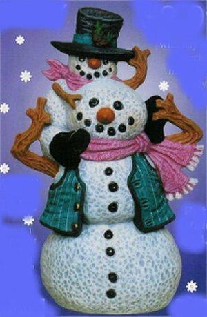 """Snowman & Lil'Buddy 6.5""""t"""