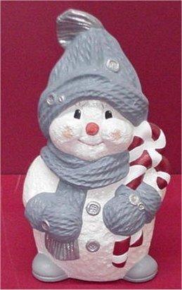 "Snowman w/CandyCane 15""H"