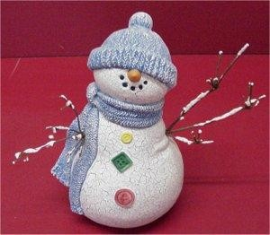 """Snowman w/Twigs for Arms 8"""""""