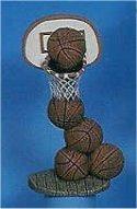 "Stack of Basketballs & Hoop 8""T"