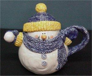 """Teapot Snowman 6.5"""""""
