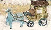 "VIP Horse w/Man & Carriage 2""t"