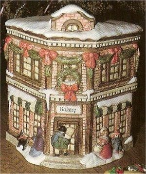 Village Bakery Cookie Jar 7 x 10.25""