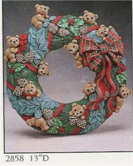 """Teddybear Wreath 13""""D"""