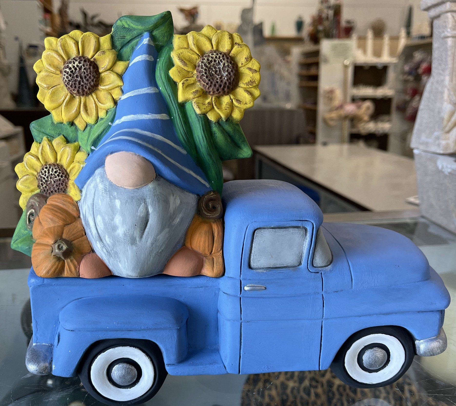 "55 Pickup w/Sunflower Gnome 5.5""T x 9.5""L"