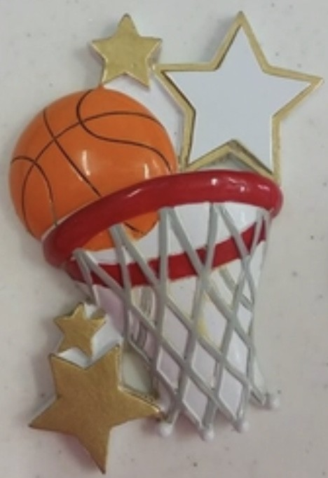 "KP Basketball Orn. 2""x3.5"""