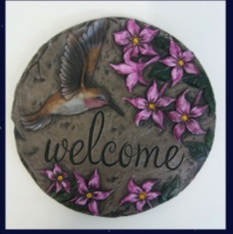 "KP Hummingbird Plaque/Slab 9""D"