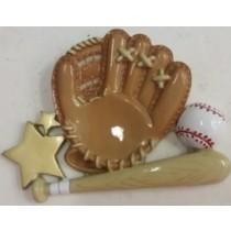 "KP Baseball Orn. 3""x4"""