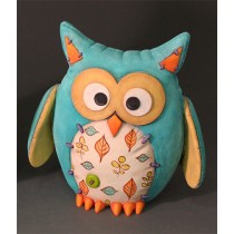 Unpainted Ceramic Felty Owl