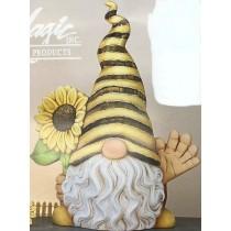 "Frey Gnome Waving w/Sunflower 16""T"
