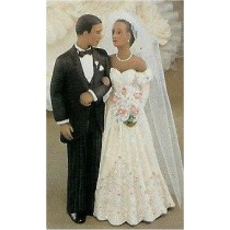 "Blk Bride & Groom 7.5""t veil Not Included"