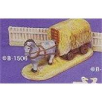 """Dray Horse & Hay Wagon 6""""L"""