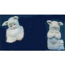 "Bunny Babies Praying & Sitting 2.75""T"