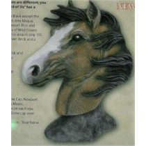 "Horse Bust 7.25""T"