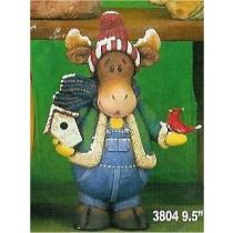 "CPI Moose w/Birdhouse 9.5""T"