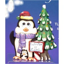 "CPI Penguin w/Tree Lite Up 13""t  pinlites included"