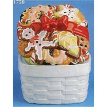 "Christmas Cookie Canister 6""t"