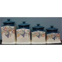 "French Ctry Canister Set 6""w"