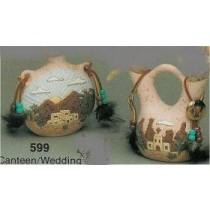 """Canteen/Wedding Vase Set acc/nicld. 4.5""""T"""