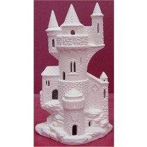 "Castle w/Windows Cut Out 9""x5.5""w"