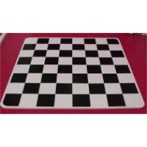 Wood Blk & White Chess Board