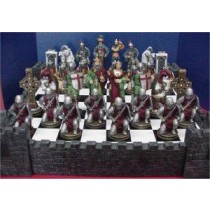 Crusade Chess Set Board & Wall included