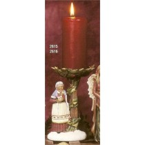 "Mrs. Santa Candle Holder 8""T"