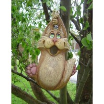 """DH Cat Birdhouse 12x7"""" rope kit included"""