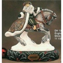 "English Santa on Shire Horse/base sold sep. 11.5""L"