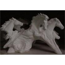 """3 Running Driftwood Horses 8x13"""""""