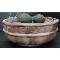 "Home Decor Bowl 4""t  9.5""dia contents not included"