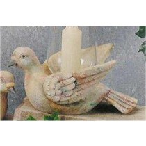 "Dove Candle Holder 9""L"