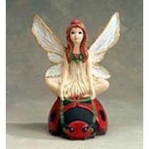 """Fairy Riding Ladybug 9""""H"""