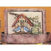 """Birdhouse Fountain 11x7""""t"""