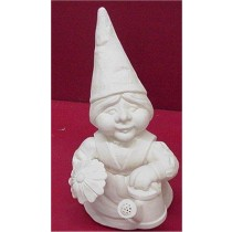 """Gnome Lady w/Flower & Watercan 13"""""""