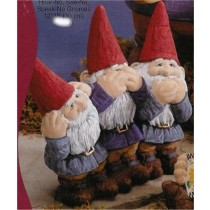 "Gnomes Hear, See, & Speak No 12""W"